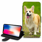 Cute Dogs Design PU Leather Wallet Case Cover For Various Mobiles - 21