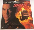 Speed, Laser Disc, starring Keanu Reeves, Dennis Hopper, and Sandra Bullock
