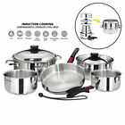 Magma A10-360L-IND 10pc Stainless Steel Nesting Induction Cookware Set Boat RV