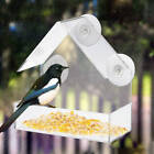 Clear Acrylic Adsorption Type House Shape Bird Feeder Suction Cup Feeder
