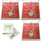 Birthstone Necklace, Personalised, Engraved, in Christmas Gift Box, Mum etc