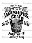 Furniture Decal Image Transfer Vintage Washing Soap Label Upcycle Shabby Chic