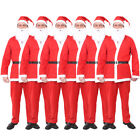 PACK OF 6 ADULT SANTA SUIT FATHER CHRISTMAS FANCY DRESS COSTUME MENS XMAS OUTFIT
