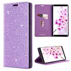 For Samsung Galaxy Note 9 Case Bling Diamond Full Body Flip Cover Wallet Purple