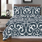 Victoria Super Soft Modern Printed Duvet Cover, 3PC 100% Cotton Duvet Cover Set image