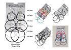 Fashion Mixed Multicolor Circle Earrings 6Pairs Round Ear Hoop Jewelry Set image