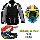 New Motorbike Motorcycle Waterproof Kids Jacket Chlidren Motocross Biker Helmets