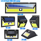 24/48/60/180 LED COB Solar Light Waterproof Motion Sensor Outdoor Security Lamp