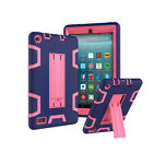 Shockproof Hybrid Rubber Stand Tablet Case for Amazon Fire 7 HD8 2015 2016 2017