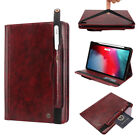 For New iPad Pro 11'' 12.9'' Leather Pen Charger Holder Smart Flip Case Cover US