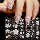 Lace Diamond Flower Stickers Nail rt Tips