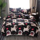 Duvet Quilt Cover Set Pug Puppy Dog Bedding Set Cartoon Soft Comforter All Size image