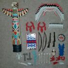 Playmobol Native American Indian Lot Totem Pole & Accessories Free Shipping