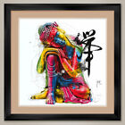 "35W""x35H"" BUDDHA by PATRICE MURCIANO - DOUBLE MATTE, GLASS and FRAME"