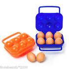 Plastic Carry 6-Grid Eggs Container Holder Storage Box Shockproof Outdoor N2009
