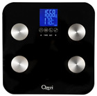 Ozeri Touch 440 lbs Total Body Bath Scale Measures Weight Fat Muscle Bone Tare