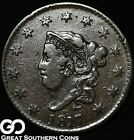 1817 Large Cent, Coronet Head, 13 Stars, Tough Early Copper