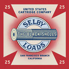 Reproduced Vintage U.S. Ammo Selby Loads Shell Box Label on Graphic Canvas