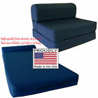 Navy 6 x 32 x 70 Sleeper Chair Folding Foam Beds, Foam 1.8 lb Density Sofa Bed