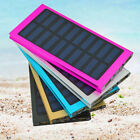 20000mAh Slim 2 USB Compact Battery Charger Solar Power Bank For All Cell Phone