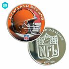 NFL Cleveland Brown Football Team Challenge 999.9 Plated Silver Coins Fan