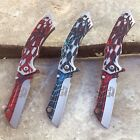 Black Widow Spider Latrodectus Pocket Knife