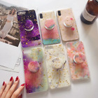 Art Marble Bling Gold Foil Chic Case for iPhone 6s 7 8 Plus X Max Pop Up Holder