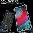 For iPhone XS Max XR 8 R-JUST Aluminum Metal Bumper Hybrid Shockproof Case Cove