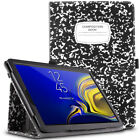 For Galaxy Tab S4 10.5 Leather Case [SlimFolio]Composition Book Cover Wake/Sleep