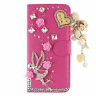 Elegant New Bling Diamond Flip Leather Wallet Stand Phone Case Cover For Huawei