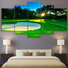 Golf Course Heart Shaped Sunshine Landscape 5 Panel Canvas Print Wall Art Poster