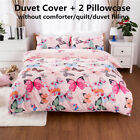Duvet Quilt Cover Set Colorful Butterfly Bedding Set Soft Comforter Twin Queen image
