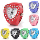 Ceative Women Heart Ring Finger Table Elastic Analog Quartz Bracelet Wrist Watch