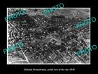 OLD LARGE HISTORIC PHOTO OF GLENSIDE PENNSYLVANIA, AERIAL VIEW OF THE CITY c1930
