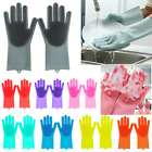 1 Magic Silicone Rubber Dish Washing Gloves Eco-Friend Scrubber Cleaning Brush