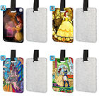 Beauty And The Beast Belle Leather Glitter Luggage Tag Travel Bag Silver