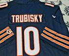 Trubisky #10 Chicago Bears Mens Limited All Sewn Jersey Navy Blue