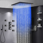 """20""""Oil Rubbed Broze LED Thermostatic Shower Faucet Massage Jets W/Hand Shower"""