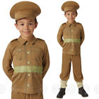 BOYS WW1 SOLDIER FANCY DRESS COSTUME HISTORICAL ARMY CHILDS OUTFIT WORLD WAR 1