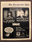 RARE! Alice Cooper / Marilyn Manson / GWAR Concert Playbill - One Time Only Show