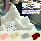 ☆Washable Handmade Chunky Knitted Blanket Lint-free Chenillel Throw Blankets USA image