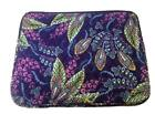 NWT Vera Bradley Laptop Sleeve Canyon Road Black Sunburst Floral Pick Pattern 15