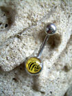 14g Belly Button Navel Ring MB 1  Yellow Jacket Honey Bee Wasp Fixed Charm Ball