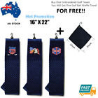 """Golf Club Cotton Towel 16"""" X 22""""  Hook to Bag With Free Golf Ball Wipe Outdoor"""
