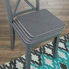 Set of 4 Foam Chair Cushions Pads with Ties Indoor Outdoor Easy Clean 16 x 16