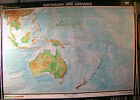 Wall Chart Roll Australia New Zealand South Seas down under 239x166 Vintage~1960