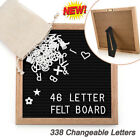 Letter Board Wool Felt Wooden Frame Message Removable 338 Changeable Letters New