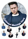 Olly Murs Edible Iced / Icing Personalised Cake Topper + 8 Cupcake Toppers Round