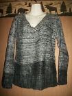 Women Sweater V Neck Long Sleeve Canyon River Blues Retail $40 Large XL