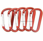 "LOT 10 HIGH QUALITY CARABINER SPRING BELT CLIP KEY CHAIN / 2.25"" / RED ALUMINUM"